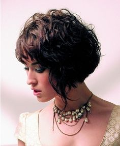 wanna try the curly bangs with the inverted bob.