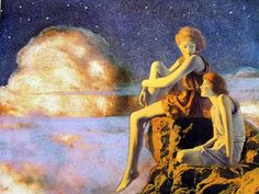 Contentment, 1927 by Maxfield Parrish. Symbolism. symbolic painting