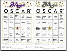 Oscar Bingo!