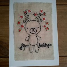 cute embroidery reindeer in black and gold...by scolpa70