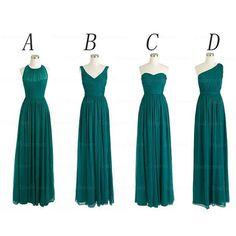 Chiffon Bridesmaid Dresses Floor Length Pst416 on Luulla