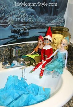 Elf on the shelf + frozen, going fishing with elsa and anna, fishing in Arendell, mymommystyle