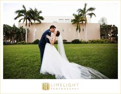 st. petersburg, florida, wedding, wedding photography, photography, museum of fine art st. petersburg, step into the limelight, limelight photography, groom, military, bride, portraits, husband, wife, mr and mrs, outdoors, palm trees