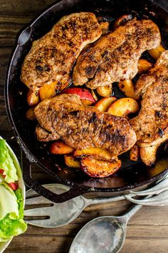Pan-Fried Five Spice Pork and Peaches