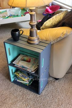 DIY Simple Wood Crate Side Table | For The Home | Pinterest | Turquoise, Side  Tables And I Love Home Design Ideas