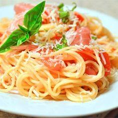 Summer Fresh Pasta with Tomatoes and Prosciutto - Allrecipes.com