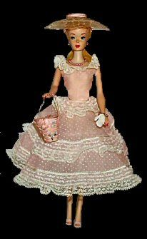 VINTAGE BARBIE PLANTATION BELLE #966 (1959-1961) I loved this outfit. Mother made a similar one for my Barbie.