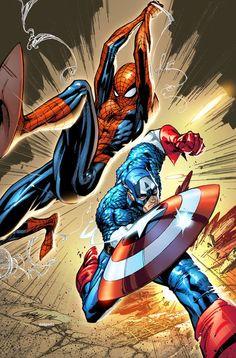 """""""Spiderman y el Capitan America"""""""