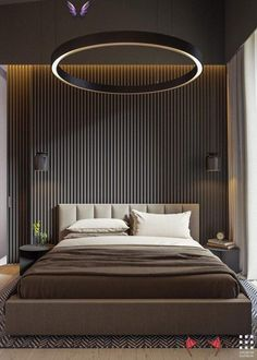 A Two-Story Home with a Sleek Gray Color Palette...  #Color #Gray #Home #Palette...  <br> Bedroom False Ceiling Design, Luxury Bedroom Design, Bedroom Bed Design, Home Decor Bedroom, Bedroom Furniture, Bedroom Designs, Bedroom Ideas, Bedroom Inspiration, Modern Luxury Bedroom