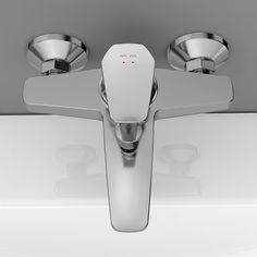 We don't just sell beautiful, individual bathroom products but a coordinated look — products that can be mixed and matched both from an aesthetic and technical perspective. Bath Shower Mixer, Design Awards, Plates On Wall, Metal Walls, Can Opener, Cool Designs, Gems, Ceramics, Products