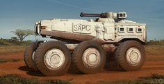 ArtStation - South African APC, Billy Wimblett