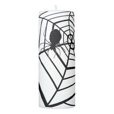 Spider Web - Halloween - Pilar Candle - party gifts gift ideas diy customize