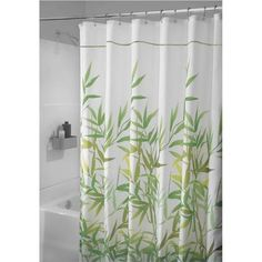 shower curtains green leaves - Google Search