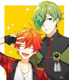 Touken Ranbu and Ensemble Stars Cute Anime Guys, All Anime, Anime Art, Anime Boys, Anime Friendship, Y Image, Japanese Online, Pandora Hearts, Anime Crossover