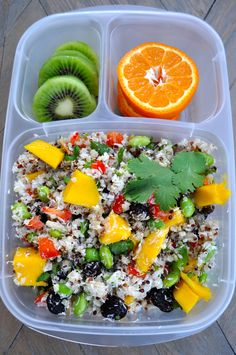 California quinoa plant based salad in @Kelly Lester / EasyLunchboxes by Bentoriffic