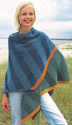 Shawl - Diagonal Stripes pattern by Vivian Høxbro Ravelry: Wing Shawl - Diagonal Stripes pattern by Vivian Høxbro Tunisian Crochet, Knit Crochet, Yarn Inspiration, Bolero, Shawl Patterns, Knitting Designs, Knitting Projects, Knitted Shawls, Ponchos