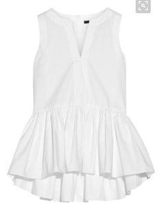 White peplum shirt Spring style Stitch fix 2016