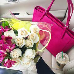 lovely bags gorgeous flowers .. X ღɱɧღ   