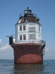 Baltimore Harbor Light sits at the mouth of the Magothy River, Chesapeake Bay, Maryland, USA. Harbor Lights, Beacon Of Light, Light Of The World, Chesapeake Bay, Water Tower, Light House, Windmills, East Coast, Costa