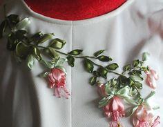 "Ribbon work Check out new work on my @Behance portfolio: ""Fuchsia and Hummingbird"" http://be.net/gallery/36201841/Fuchsia-and-Hummingbird"