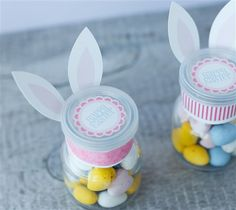Bunny Candy Jars. Make It Now with the Cricut Explore machine in Cricut Design Space.