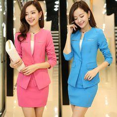 OL women office suits three pieces suit blazer skirt suits Hotel uniform Beauty salon overalls hotel reception staff uniform