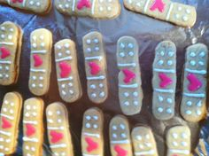 Bandaid cookies for someone sick