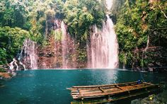 Tinago Falls in the Philippines are the cascades that really put this city of Iligan on the map—the falls stand at 240 feet and are hidden at the top of a 500-step staircase.