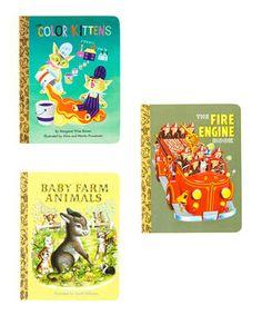 This Kittens, Fire Engine & Farm Animals Board Book Set by Little Golden Books is perfect! #zulilyfinds