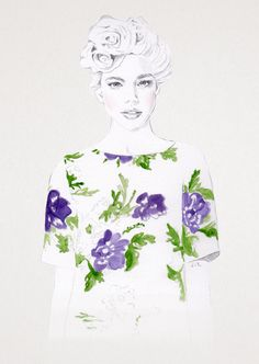 Fashion Illustration 2015 - Jenny Liz Rome Illustration via Fashion ikustration