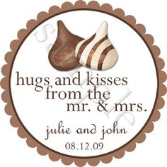 hershey kisses for favors   - l Iove this idea!