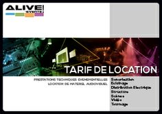 Tarif de location d'Alive Events !! http://www.alive-groupe.fr/tarifdelocation.php