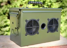 Ammo Can Speaker. This ammo box speaker will fill the room or your campsite with crisp sound, A repurposed ammo can into a versatile Bluetooth speaker