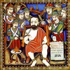 'Martyrdom of G.' by Peter Ghetu Original Paintings, Original Art, Oil Paintings, Artwork Online, Saatchi Art, Handmade, Fictional Characters, Desktop, Life