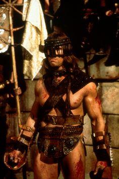 Conan The Barbarian - Publicity still of Arnold Schwarzenegger Conan The Barbarian Movie, Barbarian King, Conan Movie, Fantasy Heroes, Fantasy Warrior, Arnold Movies, Conan O Barbaro, Vikings, Predator