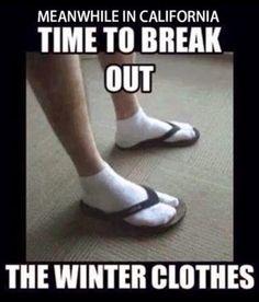 I did wear flip flops today; sans the socks 🤣