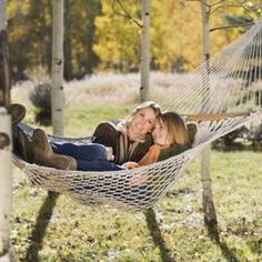 There's no better way to spend a summer day than in a hammock.