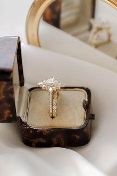 Kensington Moissanite Diamonds, Moissanite Rings, Marquise Diamond, Oval Diamond, Wedding Sets, Dream Wedding, Halo Diamond Engagement Ring, Engagement Rings, Olive Avenue Jewelry
