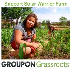 Help Lakota families have access to fresh, organic veggies. Purchase the Groupon deal to support Solar Warrior Farm on the Pine Ridge Reservation: https://www.groupon.com/deals/trees-water-people
