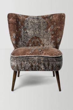 Great fabric for simple elegant chair.