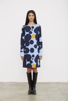 Marimekko Spring/Summer 2016 Ready to wear collection Keidas Marimekko Dress, Marimekko Fabric, 2016 Fashion Trends, Fashion News, Fashion Women, Colourful Outfits, Cool Outfits, Art Conceptual, Layered Fashion