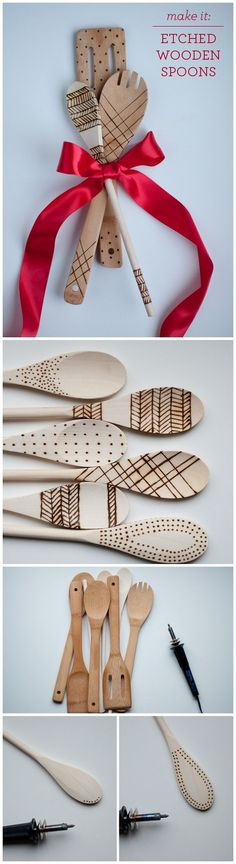 Check out this easy idea on how to make #DIY etched wood spoons that you can make and #sell #crafts #project #easydiyprojectstosell