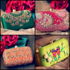 Clutches are a great accessory. Add them to your closet to look your best with any ethnic wear.