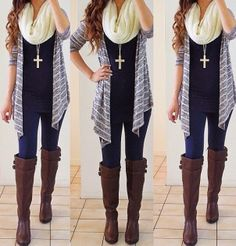 Fall winter outfit minus the cross necklace