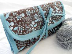 Knitting Circular Needle Organizer Roll Up Bag by theneedlepalace, $32.00