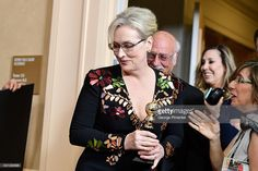 Actress Meryl Streep poses in the press room during the 74th Annual Golden Globe Awards at The Beverly Hilton Hotel on January 8, 2017 in Beverly Hills, California.