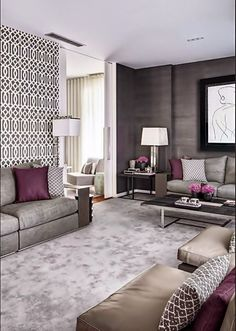 Minimalist living room is very important for your home. Because in the living room every the deeds will starts in your pretty home. findthe elegance and crisp straight Minimalist Living Room Size. Mauve Living Room, Living Room Colors, My Living Room, Home And Living, Living Room Designs, Grey Carpet Living Room, Bedroom Colors, Living Area, Living Spaces