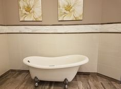 Dress up any bathroom with Pearl White Polished 12x24 & Calacatta Gold Honed 4x16. Add a contrasting Dome Liner to add a bold element to the design. #bathrooms #interiordesign #walldesign https://arizonatile.com/en/products/porcelain-and-ceramic/pearl-white