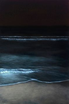night waves..reminds me of the last night in california when we swam in the ocean at night :)