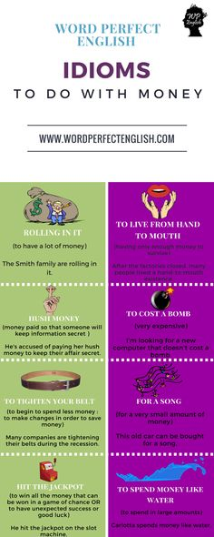 Idioms to do with Money 2/2